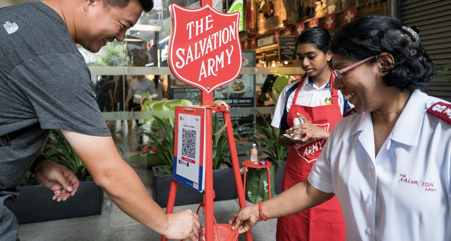 """Your money is actually going towards a person in Singapore. So it's a big thing!"" says Lieutenant-Colonel Garth Niemand, chief secretary of Salvation Army Singapore. Photo by Rachel Phua."