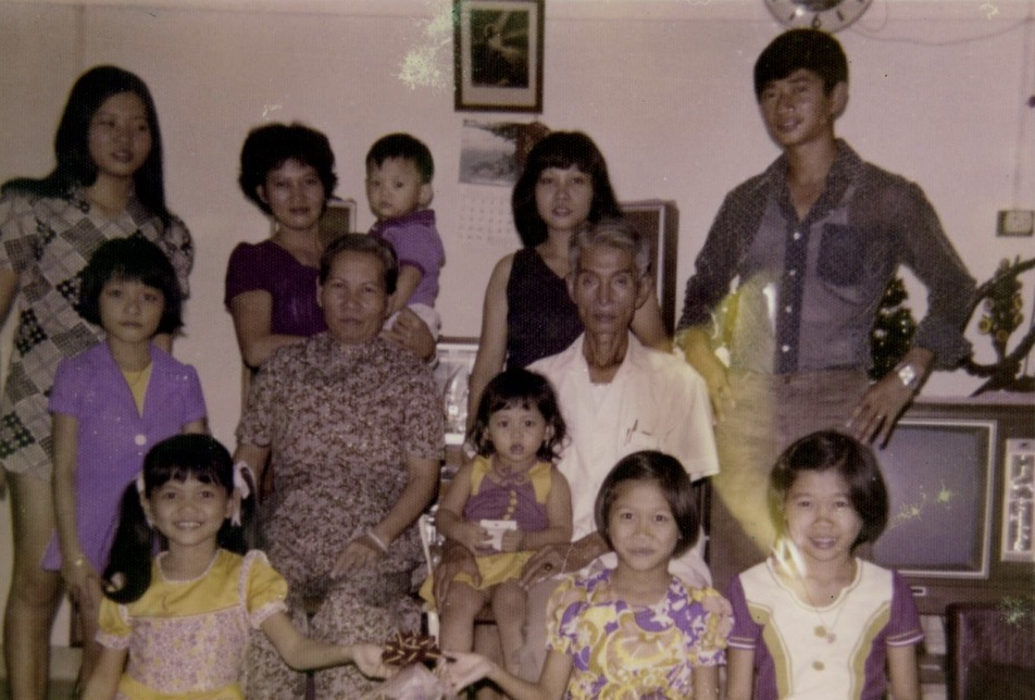 Jocelyn's grandmother, Madam Kee Siok Cheng (seated), was instrumental in shaping her into the woman that she is today. Jocelyn (bottom left) spent the first 11 years of her life under her grandmother's watchful care.
