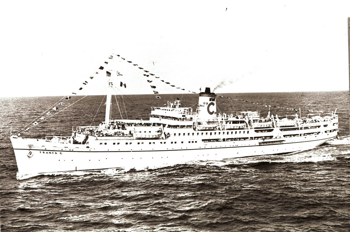 Roma was sold in 1952 and renamed Franca C. It worked as a passenger ship for transport between Italy and Argentina until it was remodelled into a first-class luxury liner in 1959, which travelled around the Mediterranean ports with occasional trips into the Black Sea.