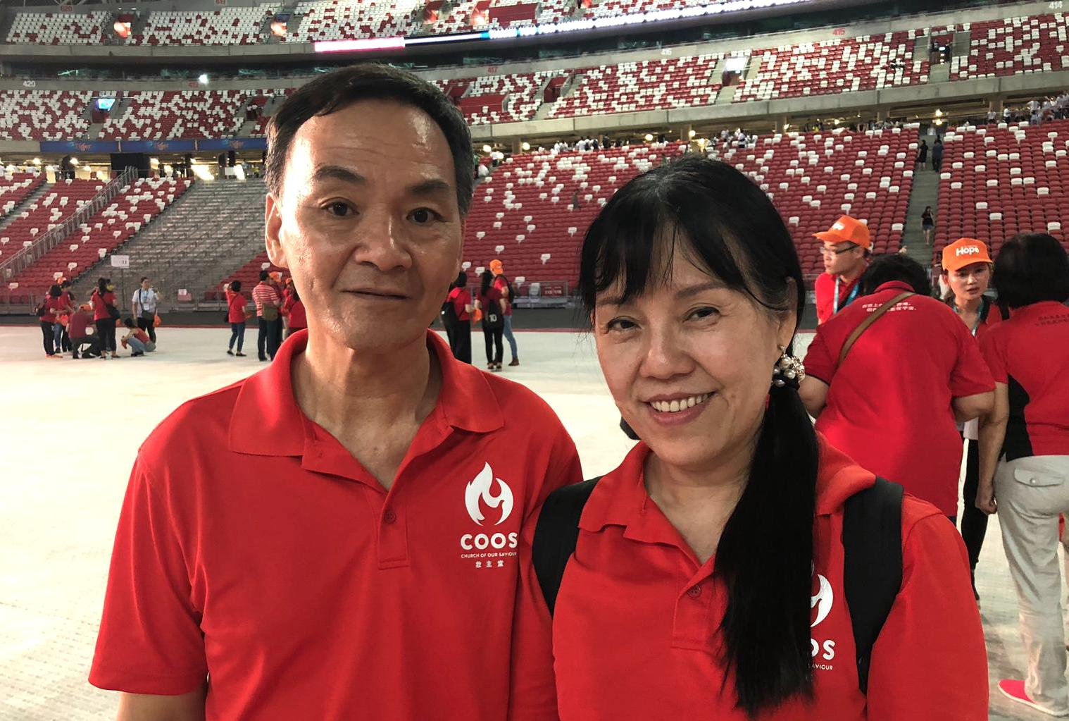 COH Chinese Eyleen Chin and her husband, Cheong Seng, took a bold step of faith to invite their friends and all three decided to receive Christ. Photo by Geraldine Tan.