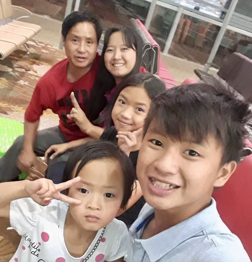 Pastor Nan Dar, together with her husband, Pastor Isaac Aung Than, and their three children, William, Mercy and Esther. Photo courtesy of Pastor Nant Nan Dar Aye.