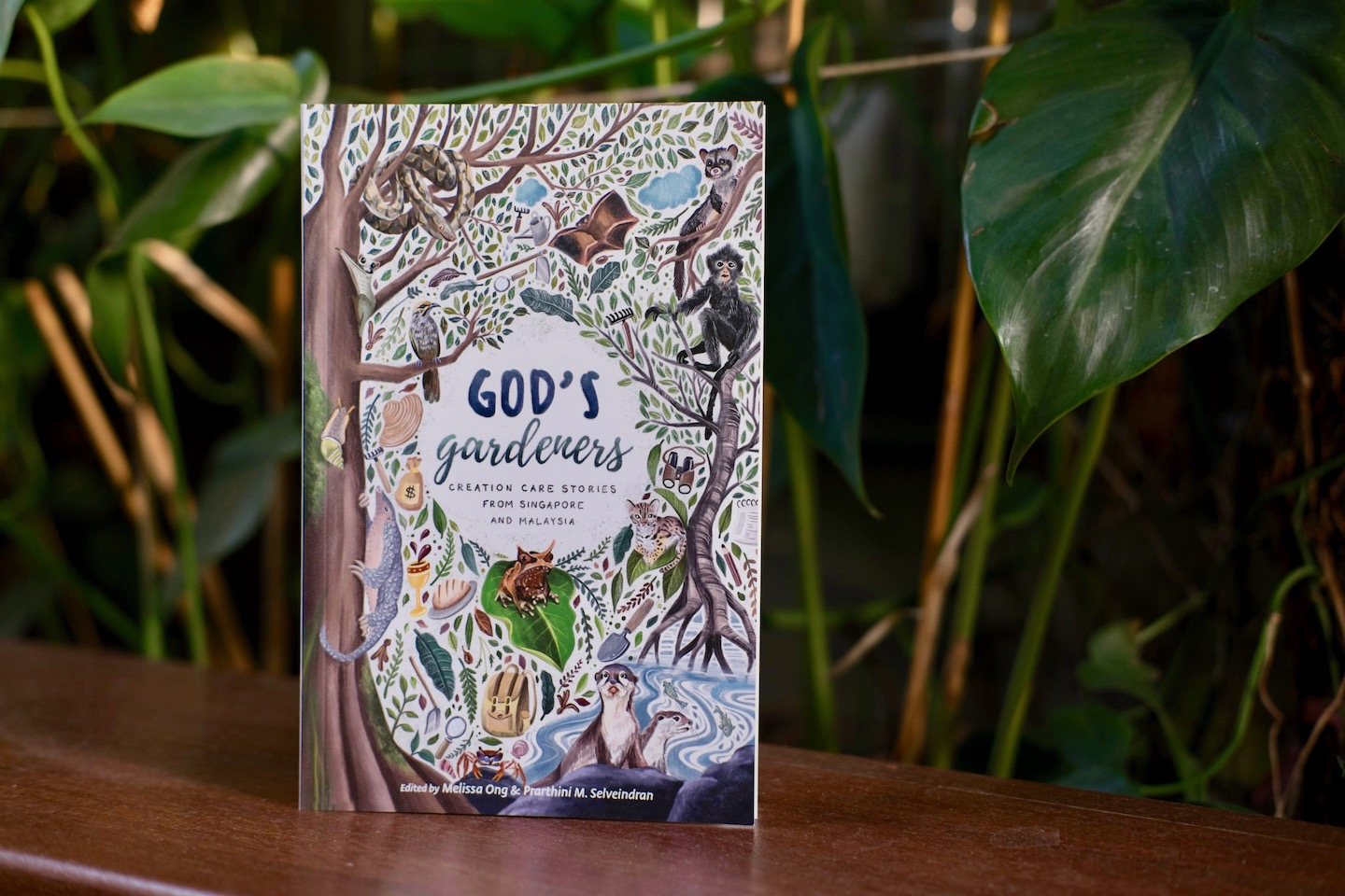 The cover of the book was deliberately designed to include images of animals indigenous to Singapore and Malaysia. Prarthini Selveindran and Melissa Ong, the editors of the book, hope that this will spur readers to appreciate and serve the creation which we are a part of. Photo courtesy of Graceworks.
