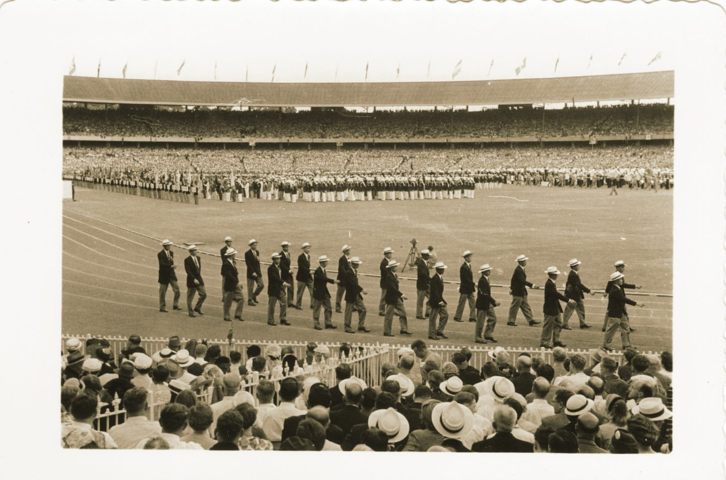 Tan Eng Liang opening of the 1956 Melbourne Olympics