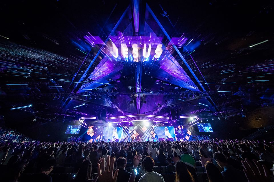 Megachurch City Harvest Church, which sees about 20 people involved in the TV production of its weekly services, has offered its production team and gear, as well as its venue in Suntec Theatre, to local pastors who may not have the technological capacity to move online. Photo taken from City Harvest Church's Facebook page.