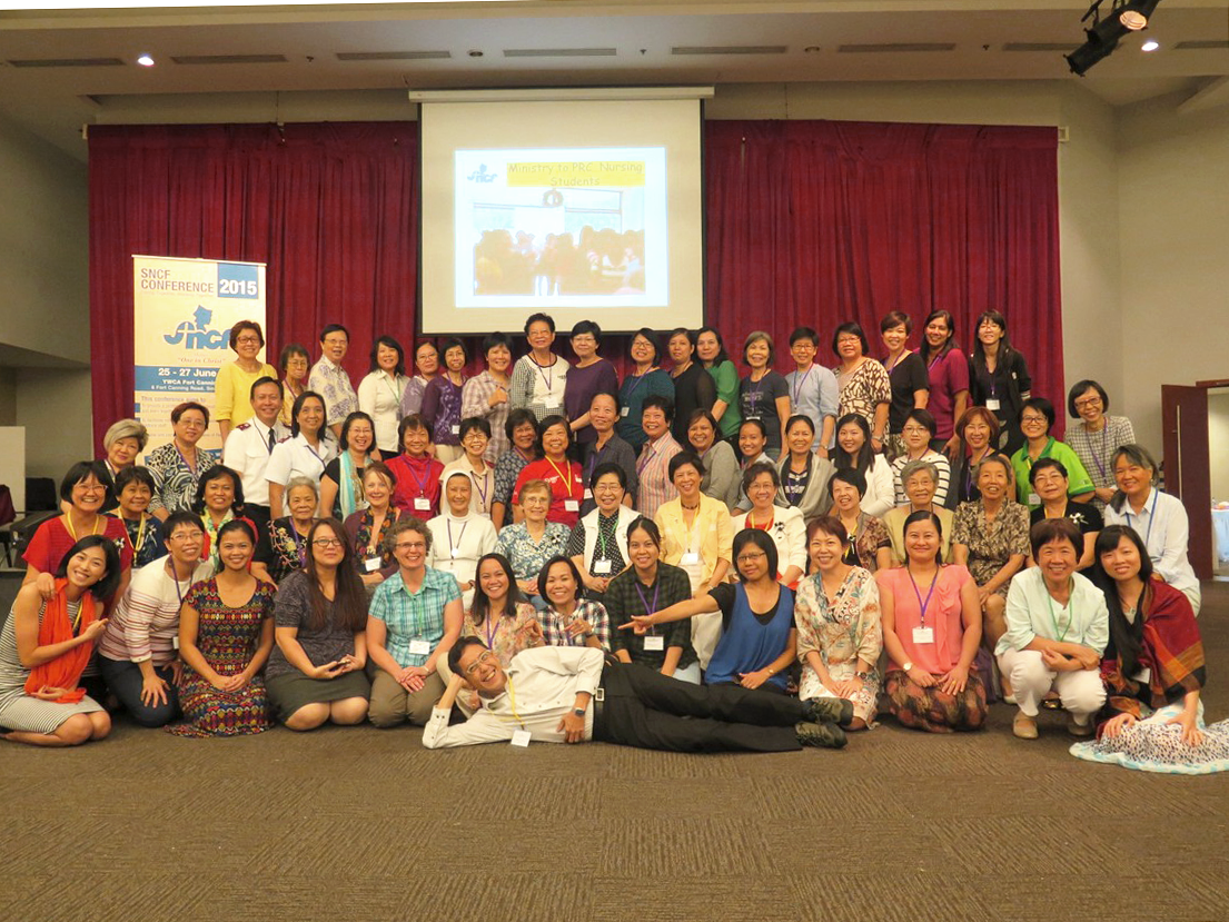 Members of Singapore Christian Nurses Fellowship (SCNF) at a conference in 2015. Photo courtesy of SNCF.