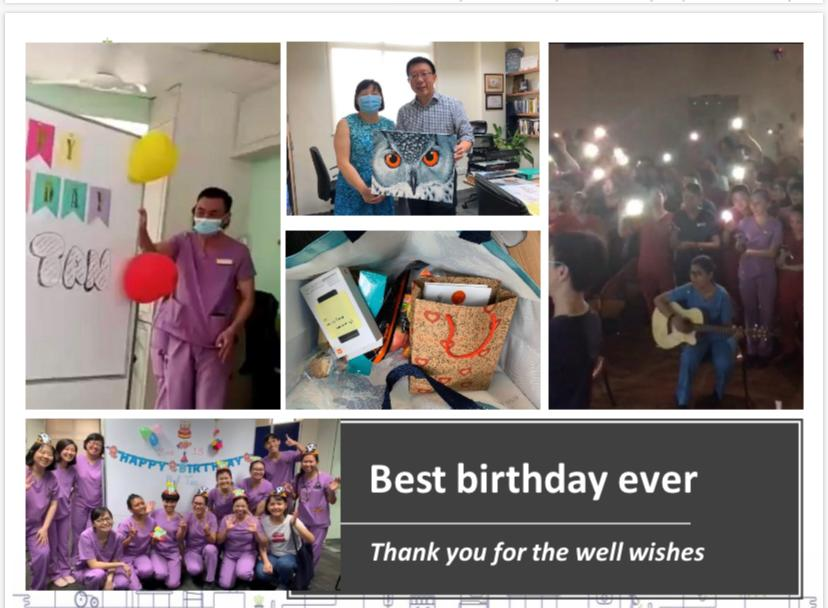 """Tan Boon Yeow St Lukes """"the best virtual birthday ever""""."""