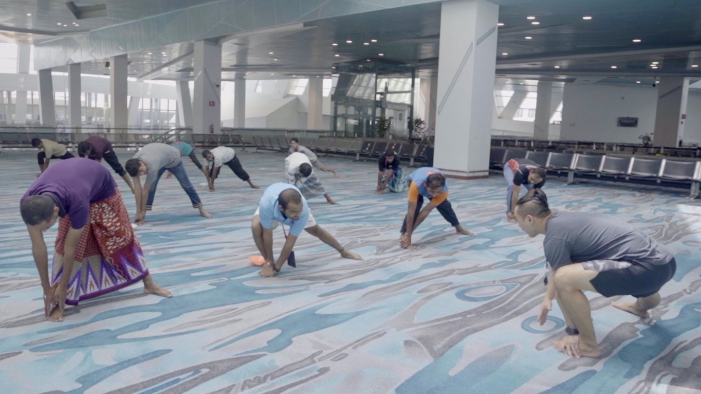 The men could choose from a variety of activities to do during the two-hour programme, including participate in an exercise class.