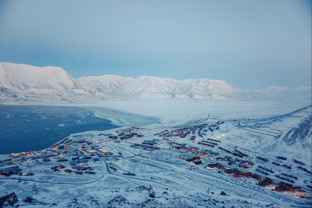 View from platåfjellet, top of mountain, as Weisi worships the God of creation