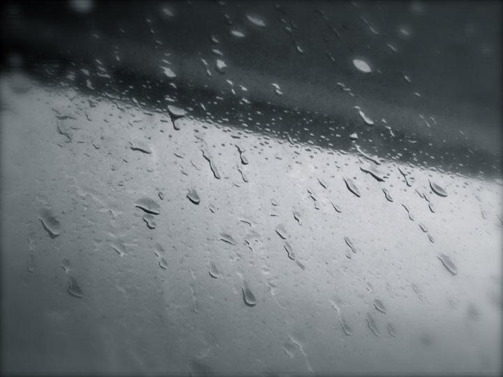 This photo of raindrops on the windown was taken by Issy when she was exploring photography in secondary school.
