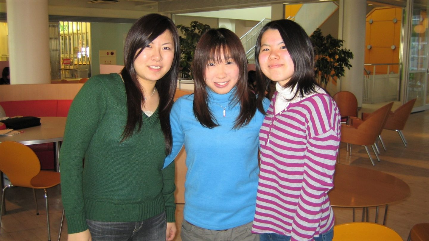 Pamela (centre) with Yoko (right). Yoko was one of the first she brought to Christ in her six years working in campus ministry with Cru Singapore in Japan.