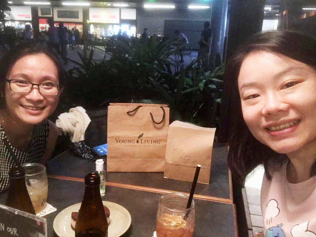 Sharen Lim (right) with her close friend Amy Chin, who offered her support and encouragement when she was going through a stressful period. Photo courtesy of Sharen Lim.